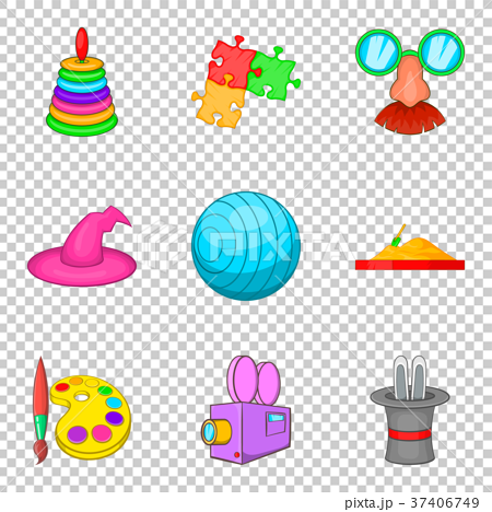 Children show icons set, cartoon style 37406749