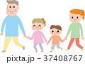 家族 おでかけ 手つなぎ イラスト 37408767