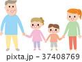 家族 手つなぎ イラスト 37408769
