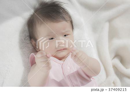 ファイティングポーズをする赤ちゃん 37409215