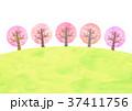 桜並木 (水彩風) 37411756