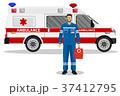 救急車 ベクトル 四輪車のイラスト 37412795
