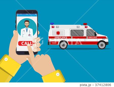 call ambulance car via mobile phone, 37412806