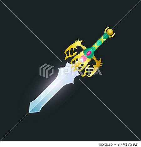 Magic sword isolated game element 37417592