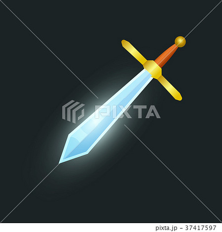 Epic sword isolated game element 37417597