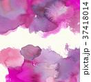 水彩模様 (ピンク) 水彩紙背景 スペース狭め 37418014