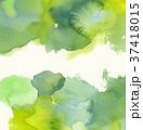 水彩模様 (緑) 水彩紙背景 スペース狭め 37418015