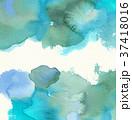 水彩模様 (青) 水彩紙背景 スペース狭め 37418016