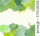 水彩模様 (緑) 水彩紙背景 スペース広め 37418098