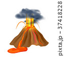 Volcanic eruption isolated vector icon 37418228