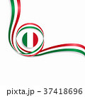 Italian wavy flag background. Vector illustration. 37418696