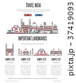 India travel infographics in linear style 37419093