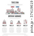 China travel infographics in linear style 37419619