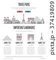 Paris travel infographics in linear style 37419809