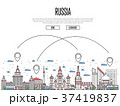 Travel Russia poster in linear style 37419837