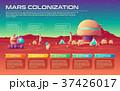 ベクトル 火星 インフォグラフィックのイラスト 37426017