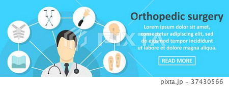 Orthopedic surgery banner horizontal concept 37430566