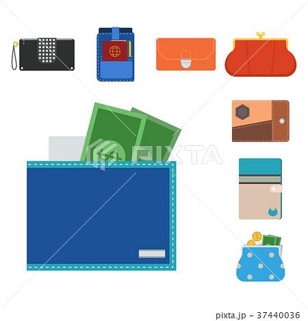 Purse wallet vector money shopping buy business 37440036