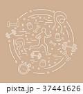 ジョギング 運動 ベクトルのイラスト 37441626