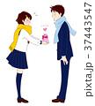 バレンタインデー プレゼント ベクターのイラスト 37443547