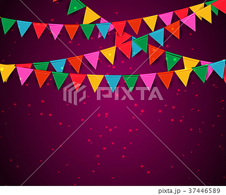 Party Background with Flags Vector Illustration 37446589