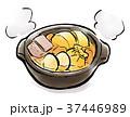 筆描き 食品 おでん 37446989