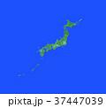 緑の日本地図 37447039