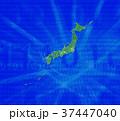 緑の日本地図とインターネット 37447040