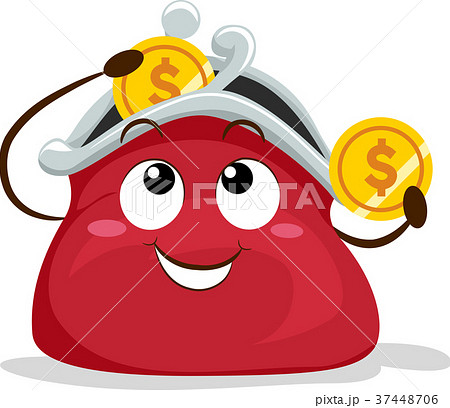 Coin Purse Mascot Illustration 37448706