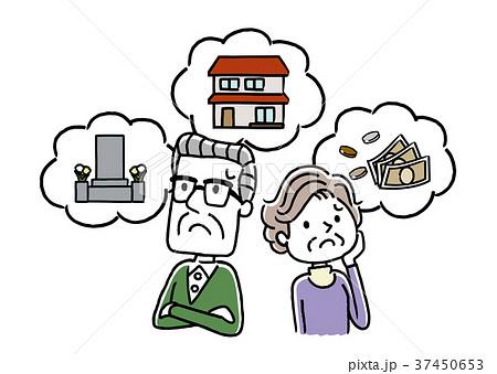 シニア夫婦:不安、心配、老後 37450653