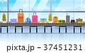 荷物 コンベヤー 鞄のイラスト 37451231