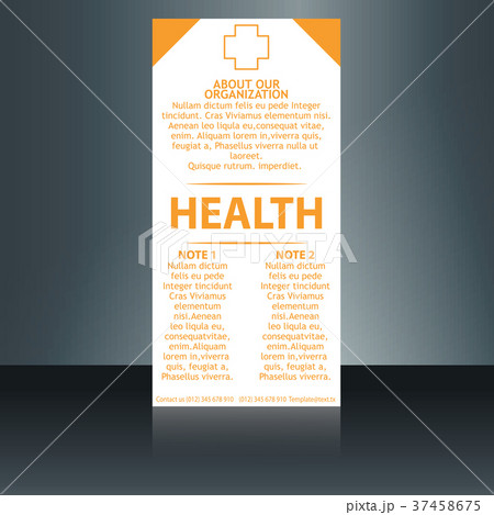 medical brochure cover template flyer designのイラスト素材