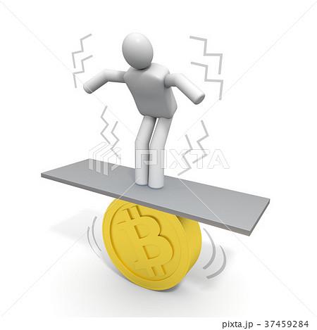 仮想通貨 / 人物 / 不安定のイラスト素材 [37459284] - PIXTA