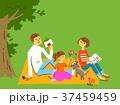 人物 家族 ピクニックのイラスト 37459459