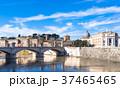 ローマ テヴェレ川とサン・ピエトロ大聖堂のクーポラ 37465465
