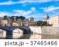 ローマ テヴェレ川とサン・ピエトロ大聖堂のクーポラ 37465466