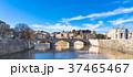 ローマ テヴェレ川沿いの町並み 37465467