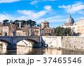 ローマ テヴェレ川とサン・ピエトロ大聖堂のクーポラ 37465546