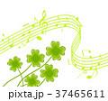 クローバー 譜面 音楽 楽譜 ト音記号 演奏 歌う 37465611