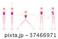 ヨガをする女性のイラスト 37466971