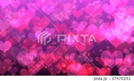 valentine s day background with hearts on pinkのイラスト素材