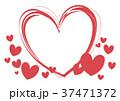 ハート フレーム ハートマークのイラスト 37471372