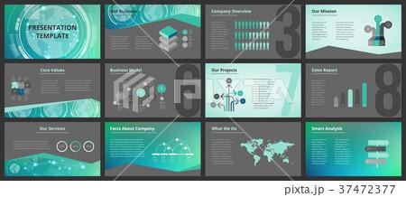 business presentation templatesのイラスト素材 37472377 pixta
