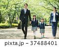 家族 小学生 通学 通勤 入学式 イメージ 37488401