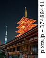 浅草寺 五重塔と東京スカイツリー 夜景 2018年1月撮影 ※改修工事後 37488441