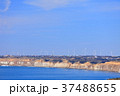 風車 海岸 青空の写真 37488655