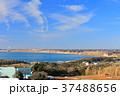 風車 海岸 青空の写真 37488656