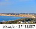 風車 海岸 青空の写真 37488657