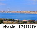 風車 海岸 青空の写真 37488659