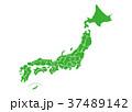 日本地図 日本 地図のイラスト 37489142